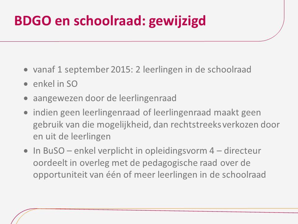 BDGO en schoolraad: gewijzigd