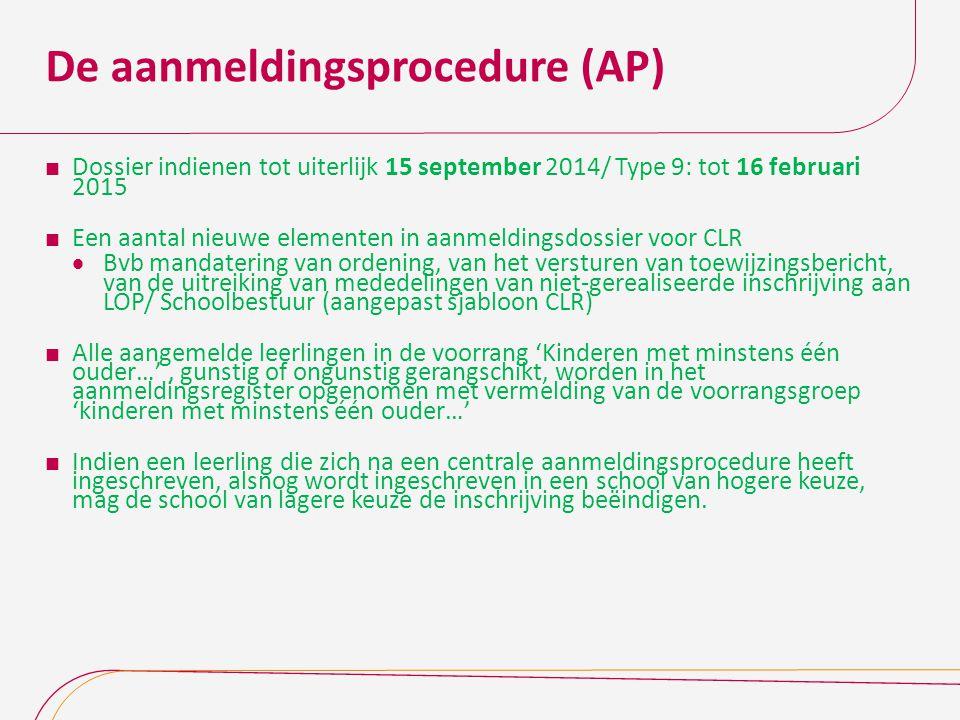 De aanmeldingsprocedure (AP)