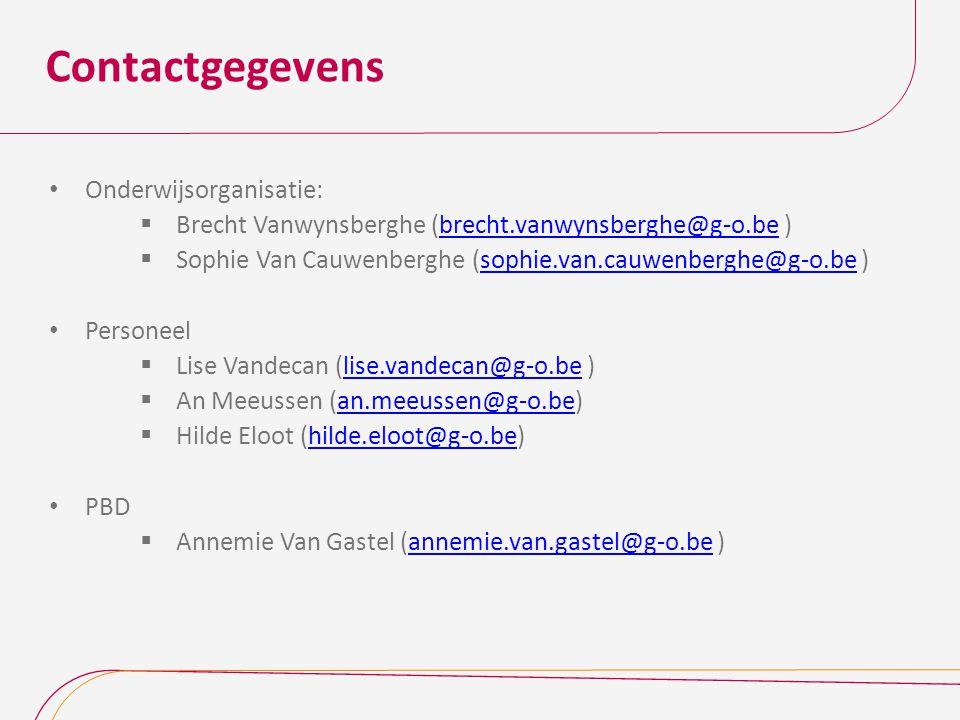 Contactgegevens Onderwijsorganisatie: