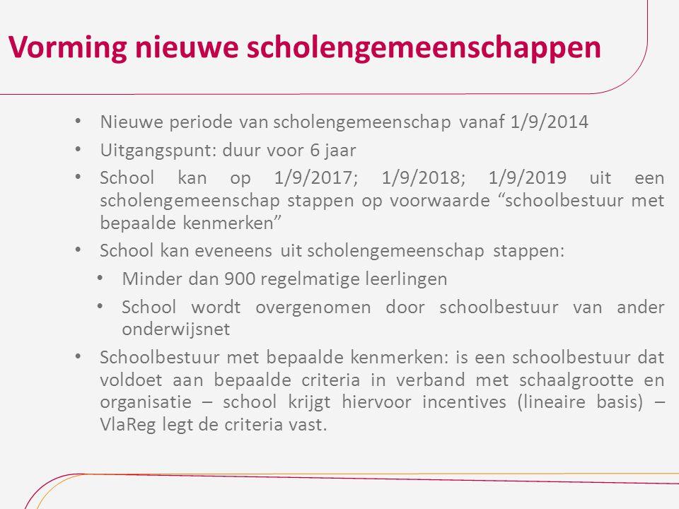 Vorming nieuwe scholengemeenschappen