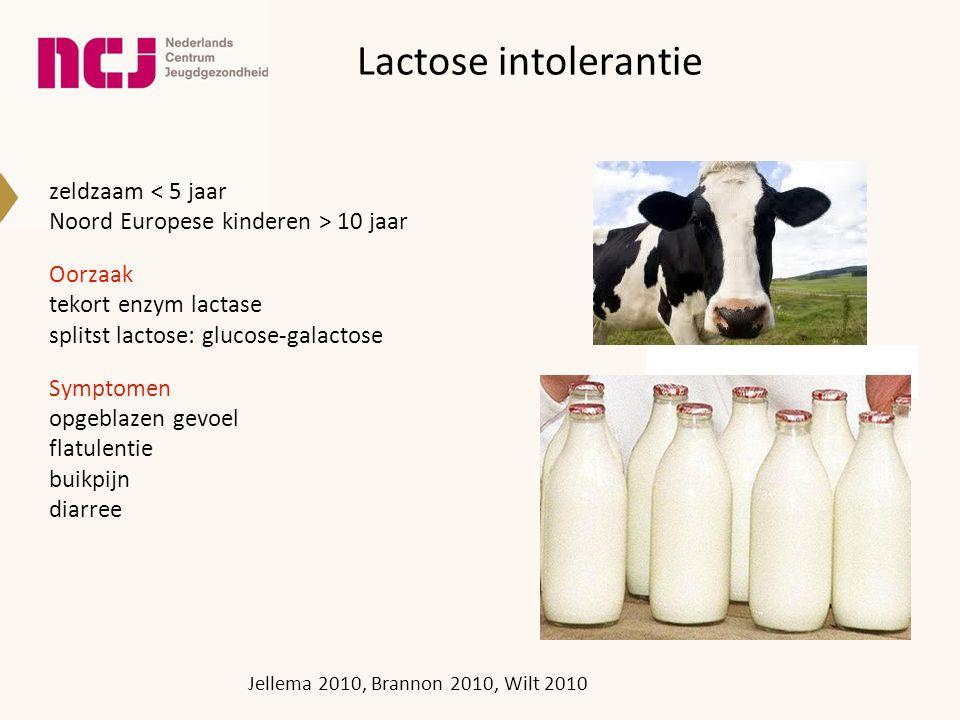 Lactose intolerantie zeldzaam < 5 jaar