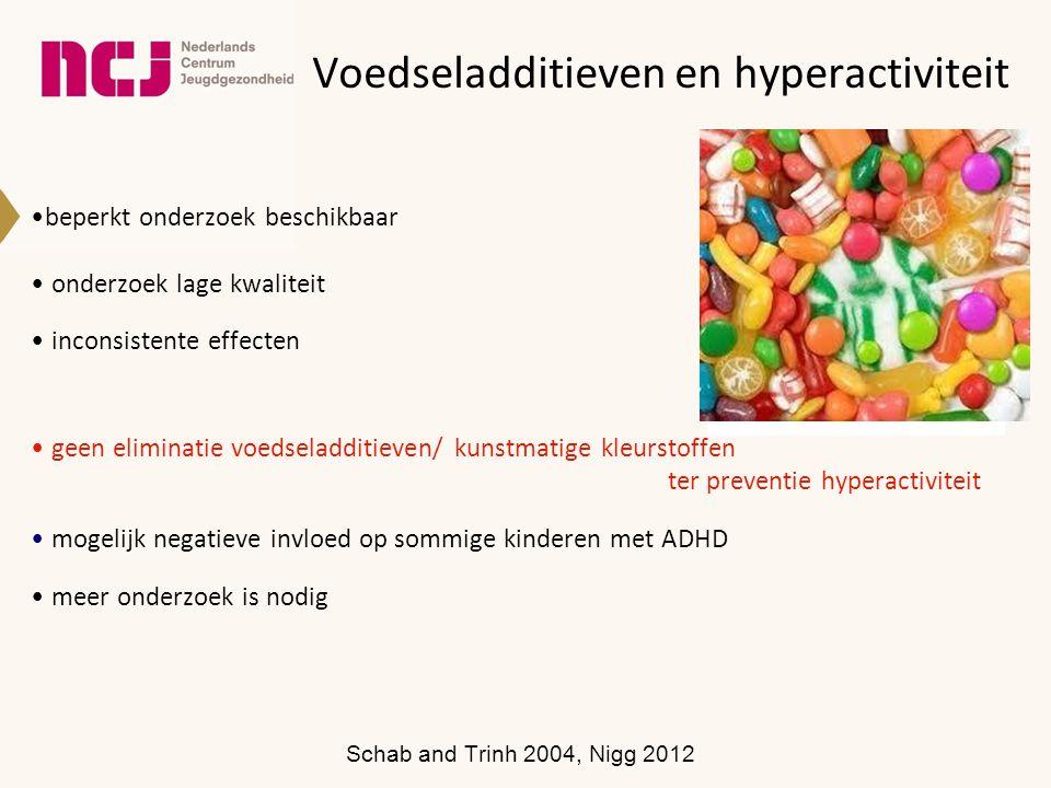 Voedseladditieven en hyperactiviteit