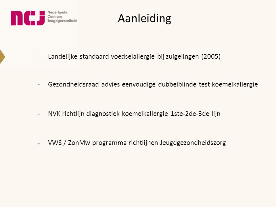 Aanleiding Landelijke standaard voedselallergie bij zuigelingen (2005)