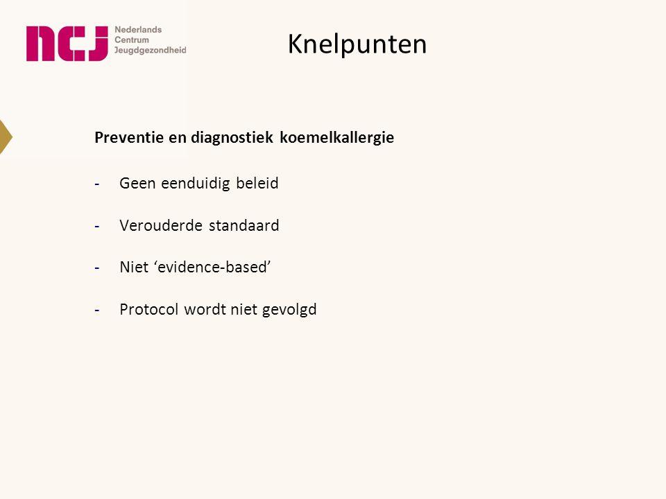 Knelpunten Preventie en diagnostiek koemelkallergie