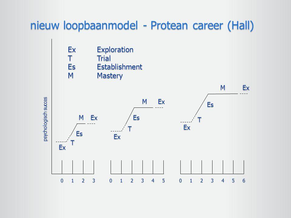 nieuw loopbaanmodel - Protean career (Hall)