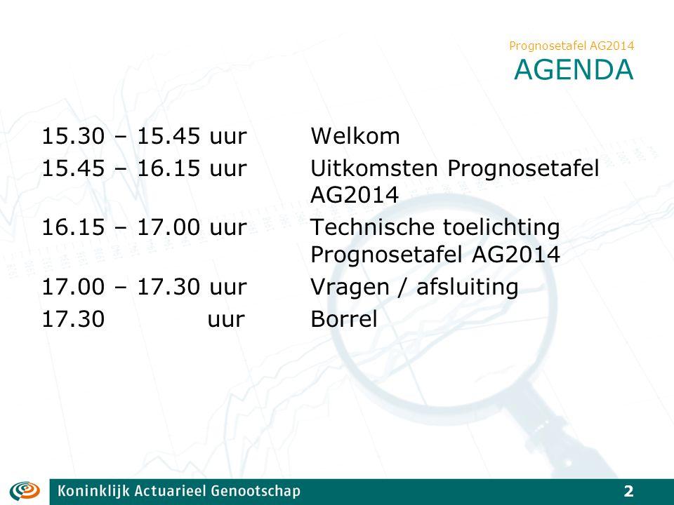 Prognosetafel AG2014 AGENDA