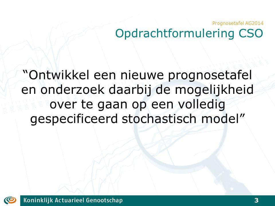 Prognosetafel AG2014 Opdrachtformulering CSO