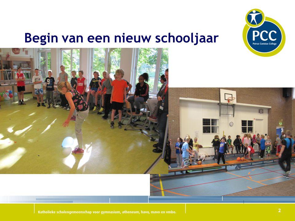 Begin van een nieuw schooljaar