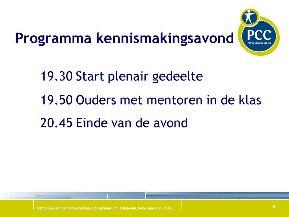 Programma kennismakingsavond