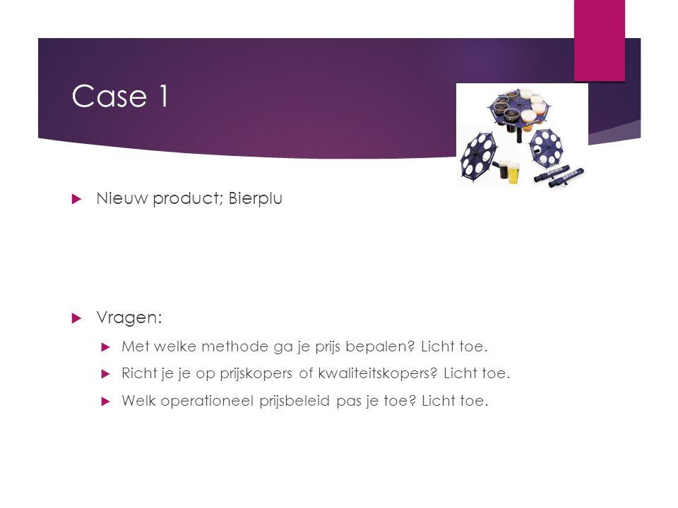 Case 1 Nieuw product; Bierplu Vragen: