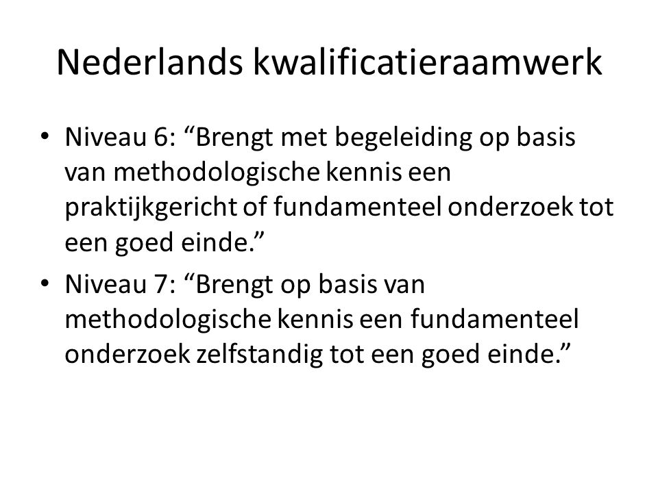 Nederlands kwalificatieraamwerk