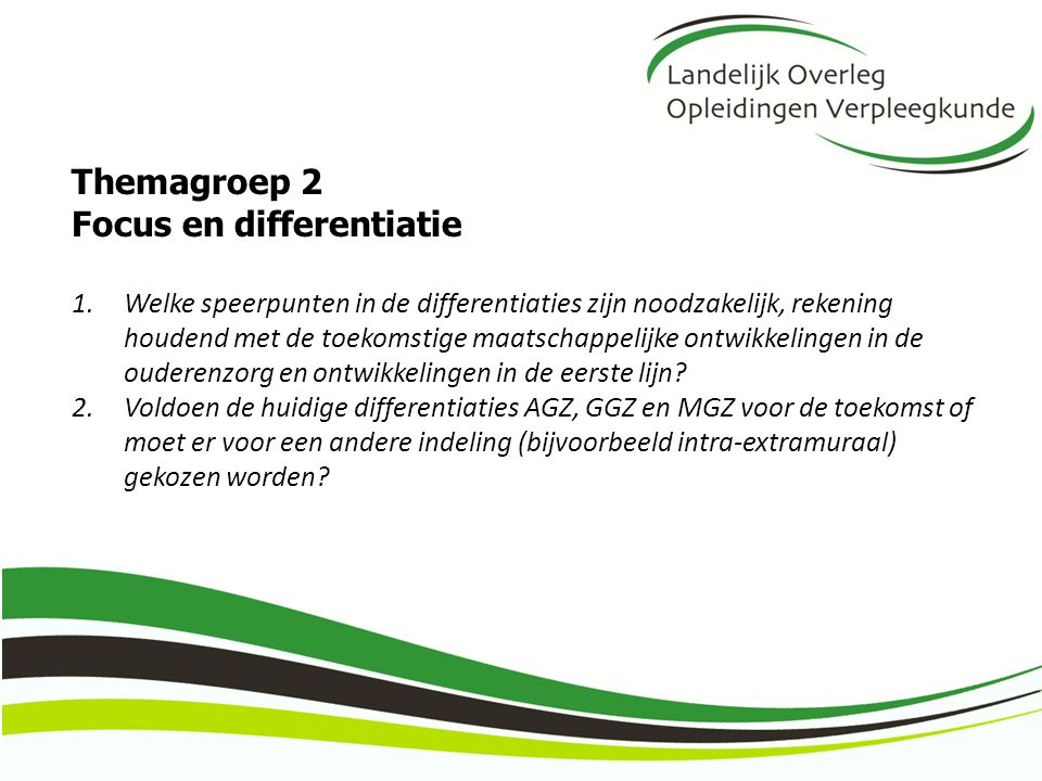 Focus en differentiatie