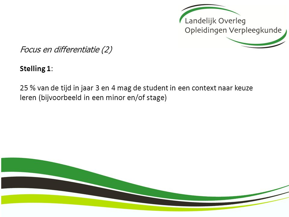 Focus en differentiatie (2)