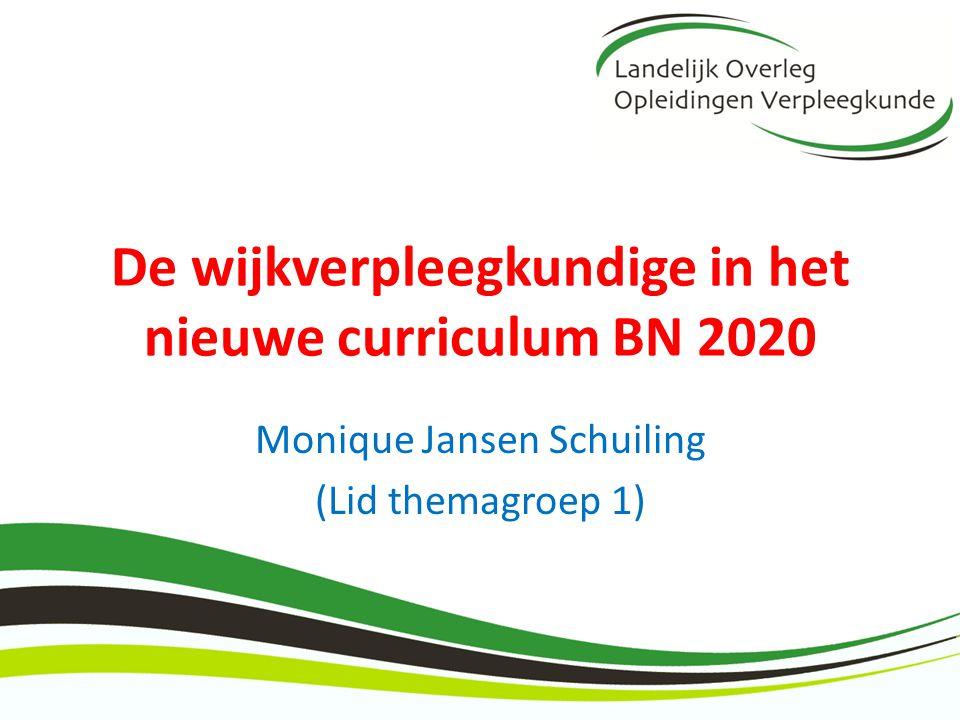 De wijkverpleegkundige in het nieuwe curriculum BN 2020