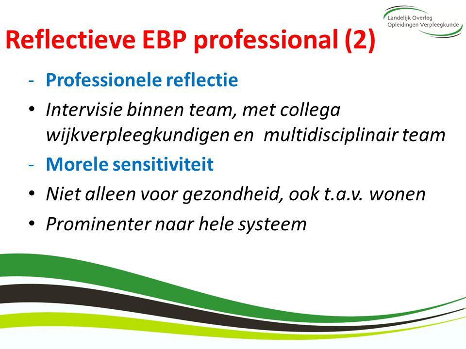 Reflectieve EBP professional (2)