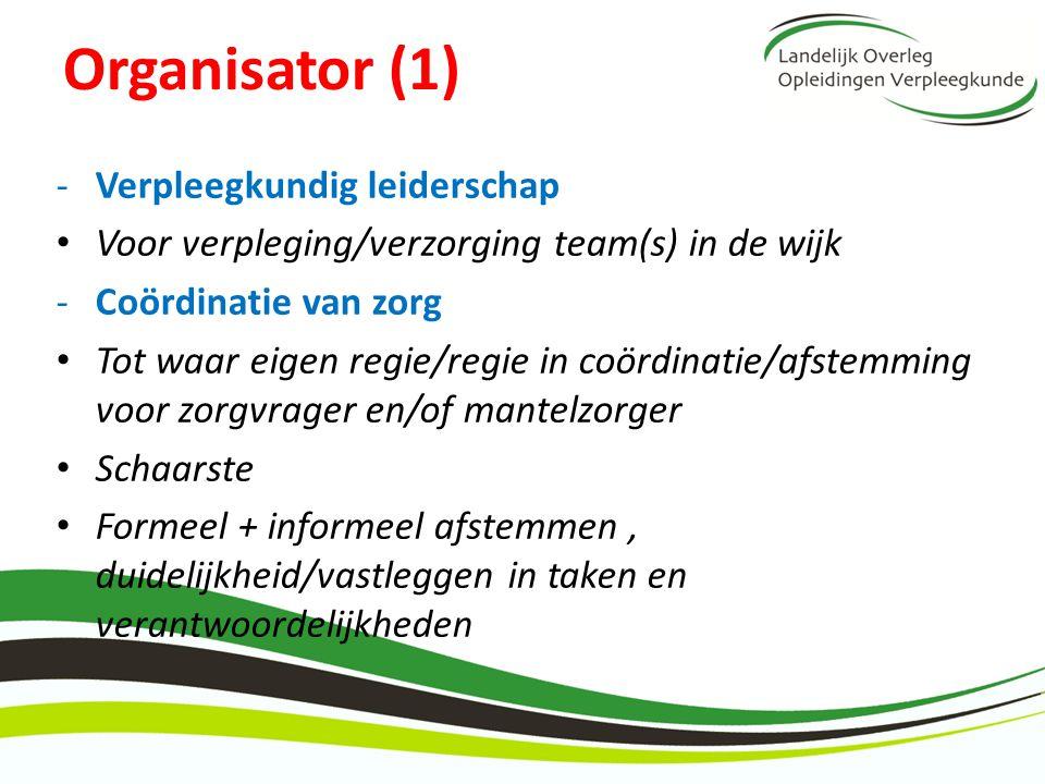 Organisator (1) Verpleegkundig leiderschap