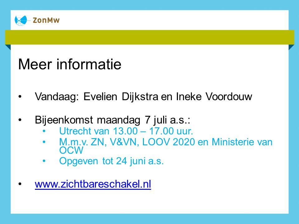 Meer informatie Vandaag: Evelien Dijkstra en Ineke Voordouw