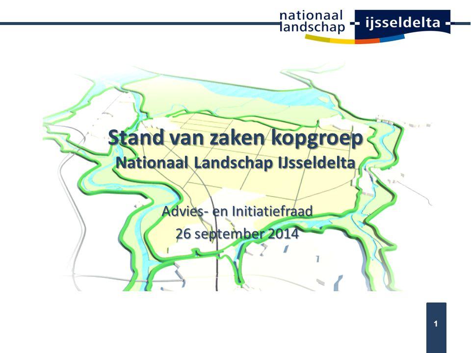Stand van zaken kopgroep Nationaal Landschap IJsseldelta
