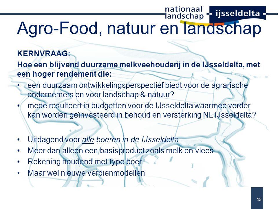 Agro-Food, natuur en landschap