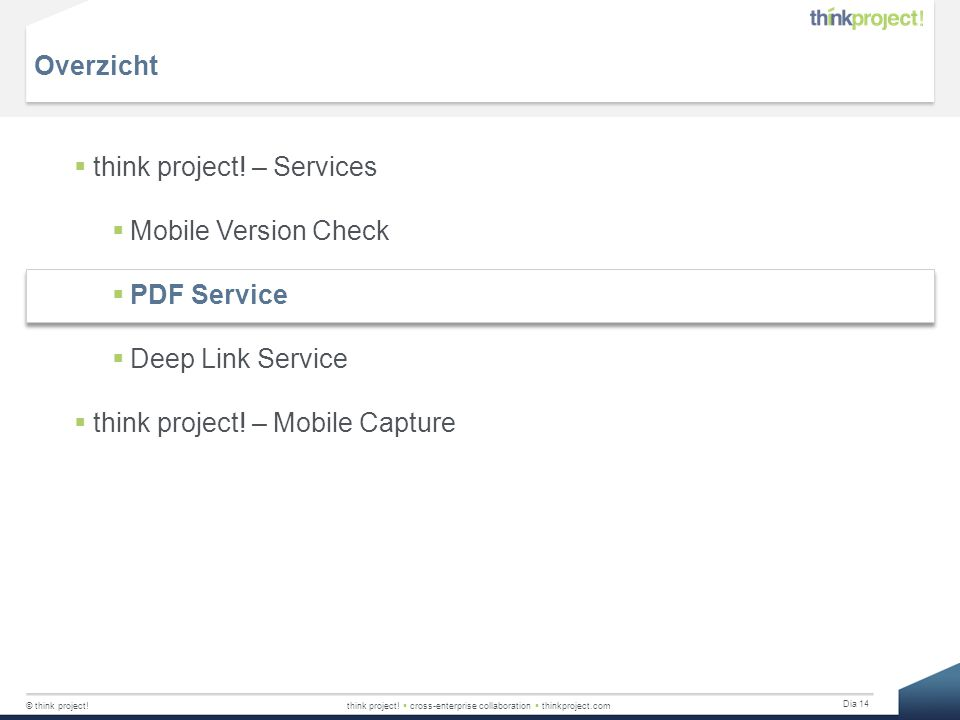 Overzicht think project. – Services. Mobile Version Check.
