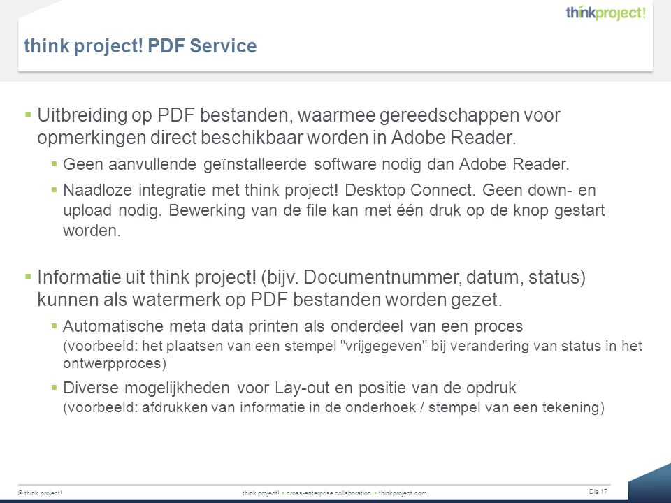 think project! PDF Service