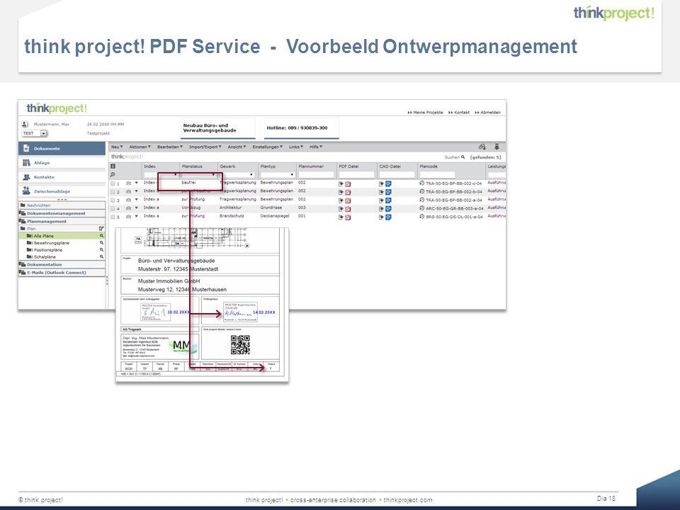 think project! PDF Service - Voorbeeld Ontwerpmanagement