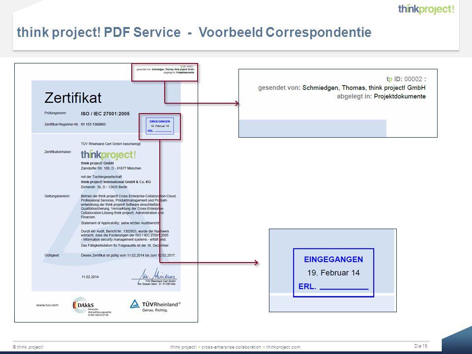 think project! PDF Service - Voorbeeld Correspondentie