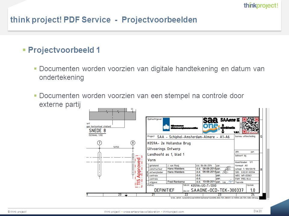 think project! PDF Service - Projectvoorbeelden