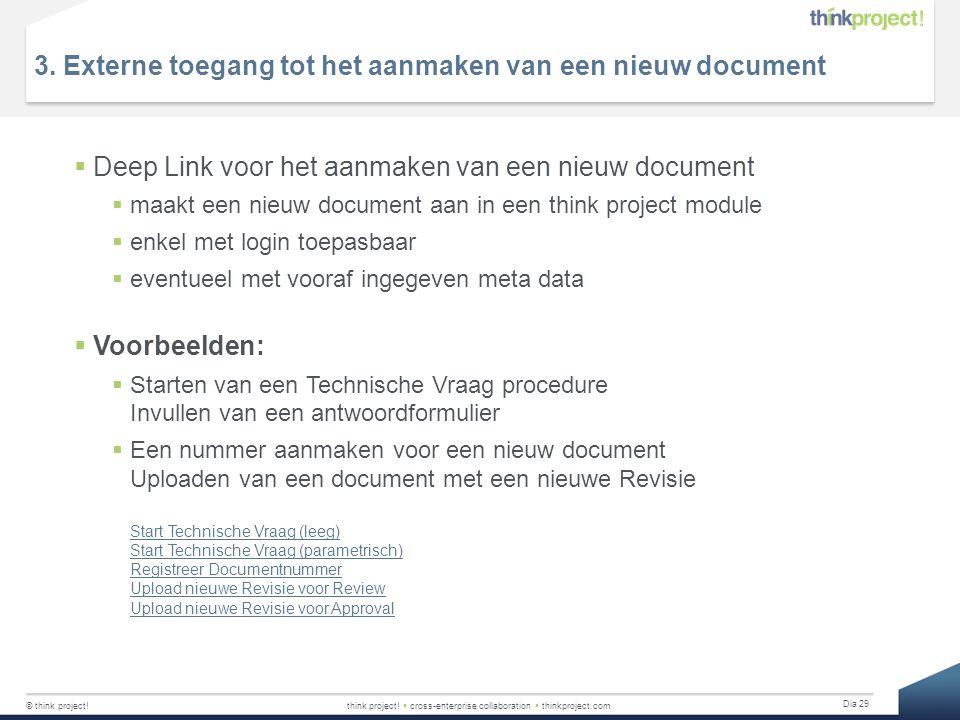 3. Externe toegang tot het aanmaken van een nieuw document