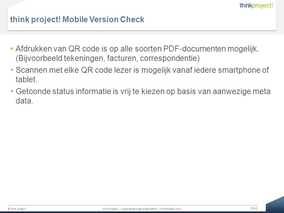 think project! Mobile Version Check
