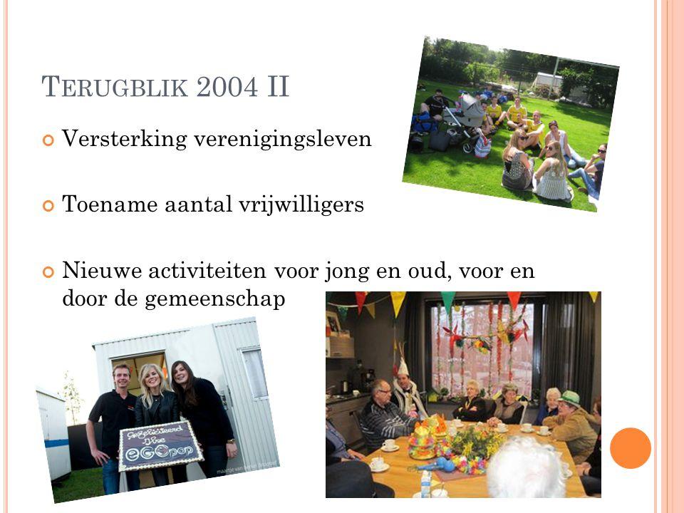 Terugblik 2004 II Versterking verenigingsleven