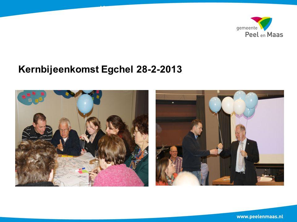 Kernbijeenkomst Egchel 28-2-2013