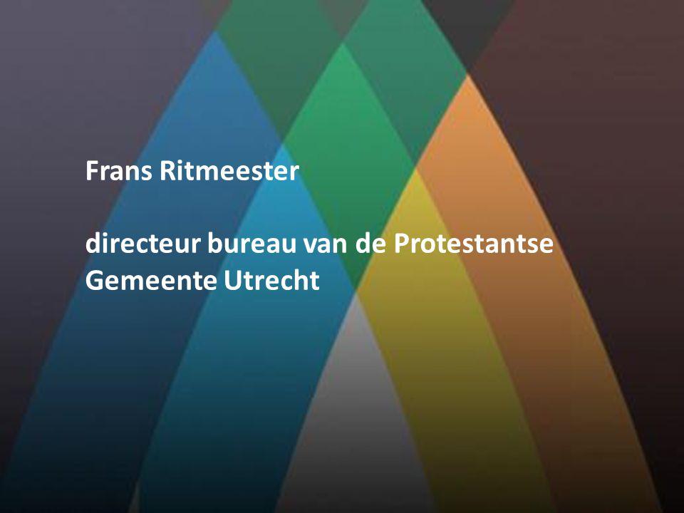 Frans Ritmeester directeur bureau van de Protestantse Gemeente Utrecht