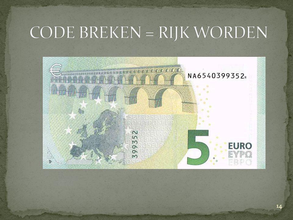 CODE BREKEN = RIJK WORDEN