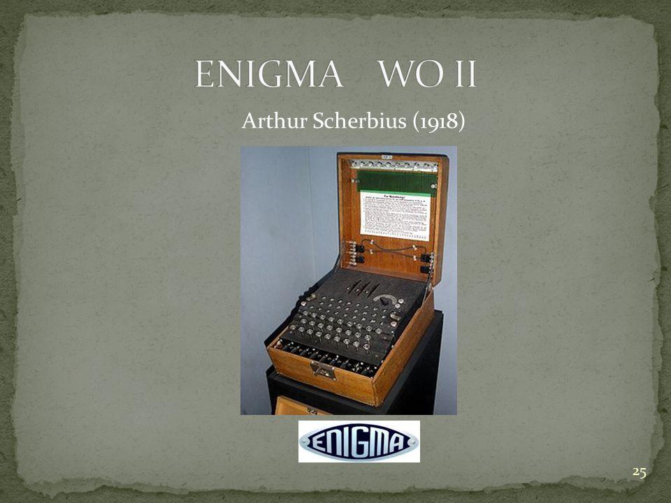 ENIGMA WO II Arthur Scherbius (1918)