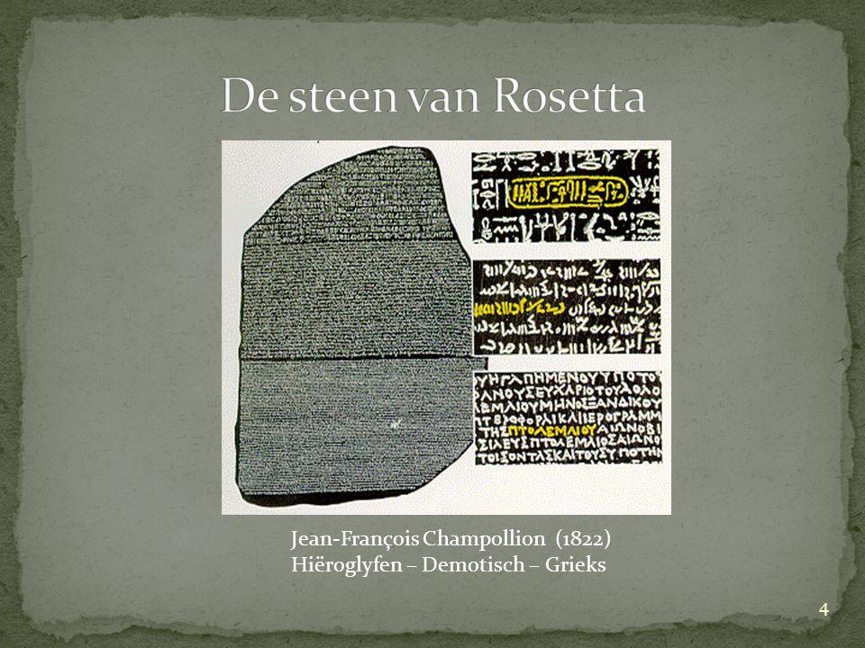 De steen van Rosetta Jean-François Champollion (1822)