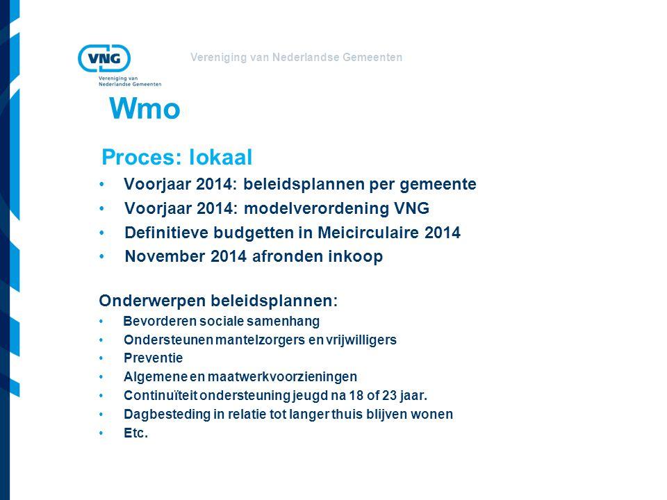 Wmo Proces: lokaal Voorjaar 2014: beleidsplannen per gemeente