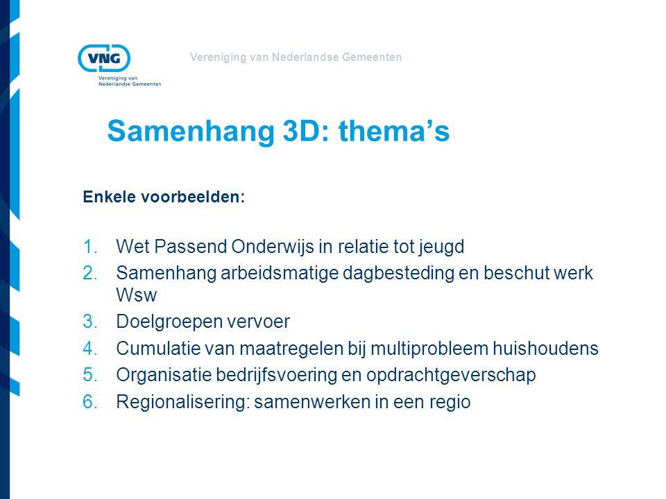 Samenhang 3D: thema's Wet Passend Onderwijs in relatie tot jeugd