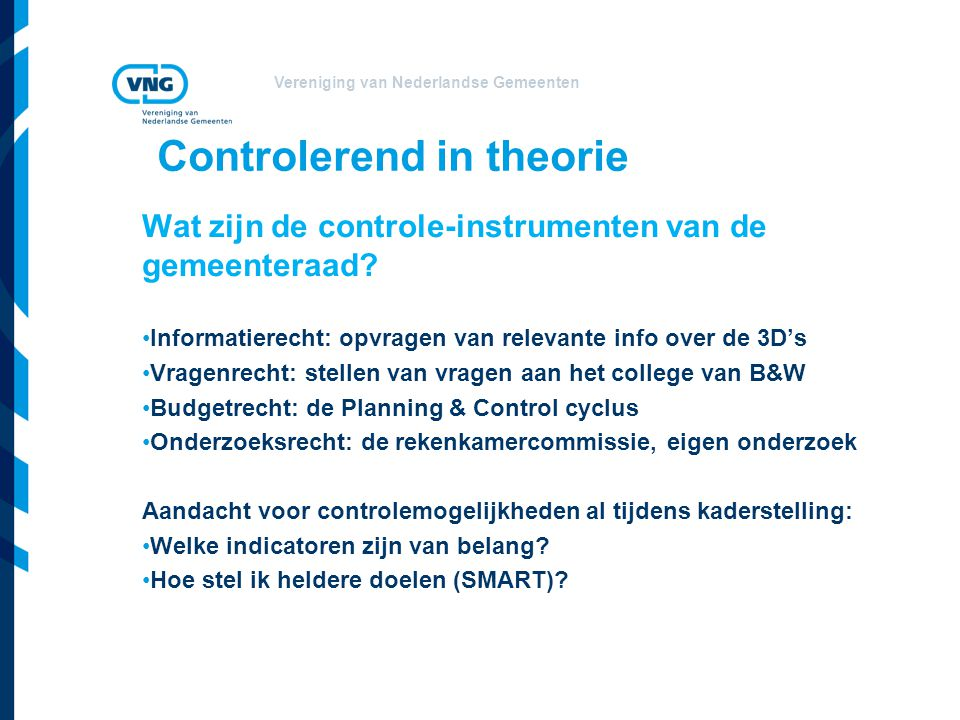 Controlerend in theorie