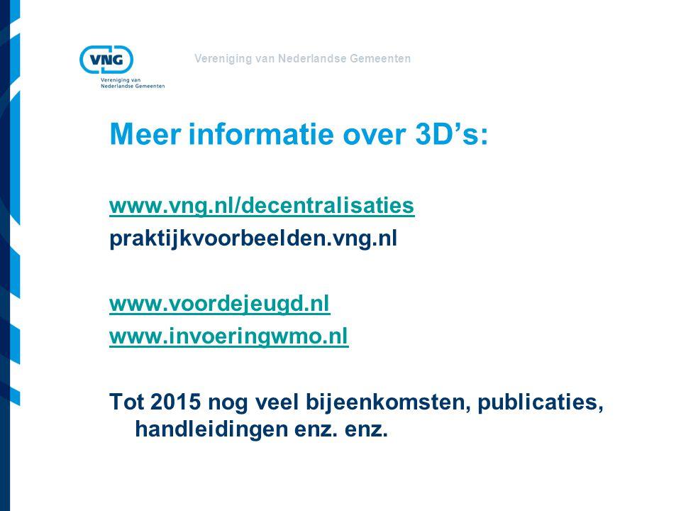 Meer informatie over 3D's: