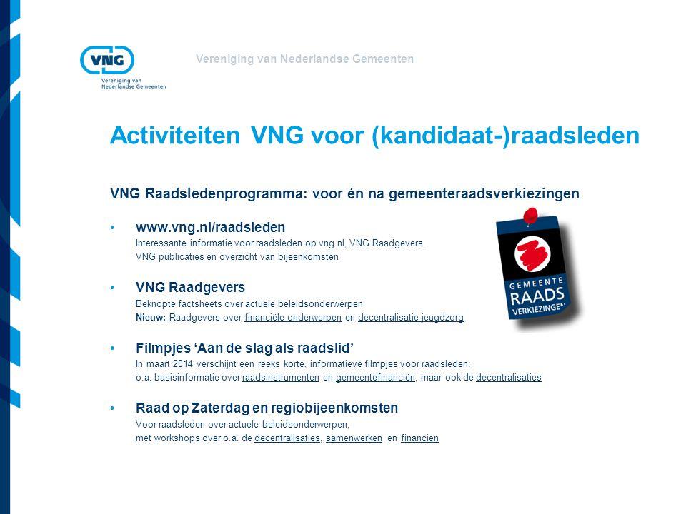 Activiteiten VNG voor (kandidaat-)raadsleden