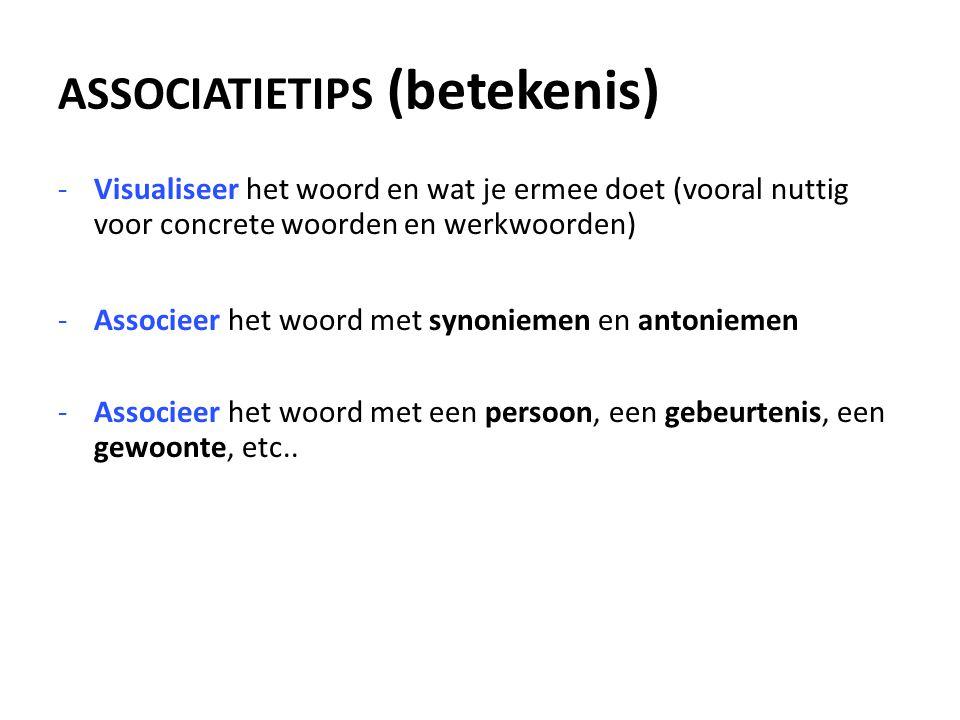 ASSOCIATIETIPS (betekenis)