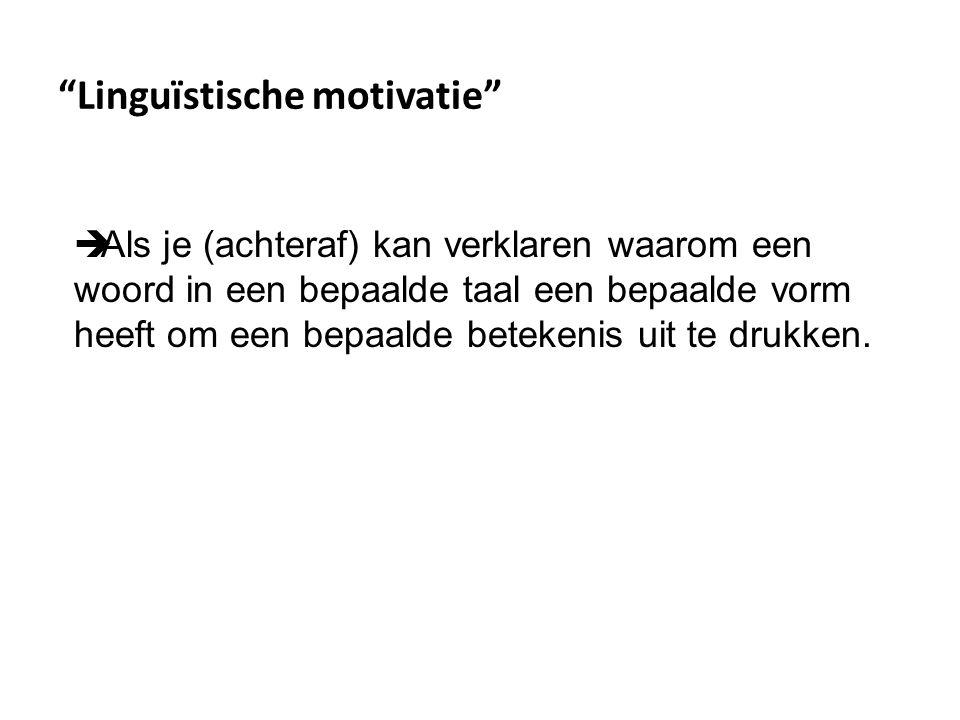 Linguïstische motivatie