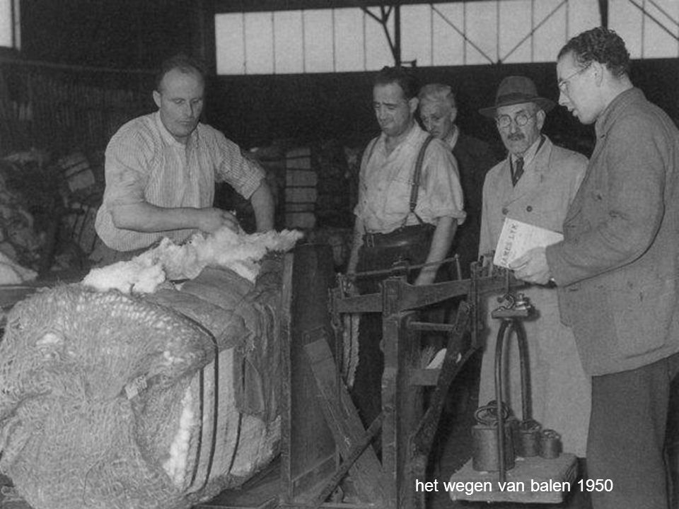 het wegen van balen 1950