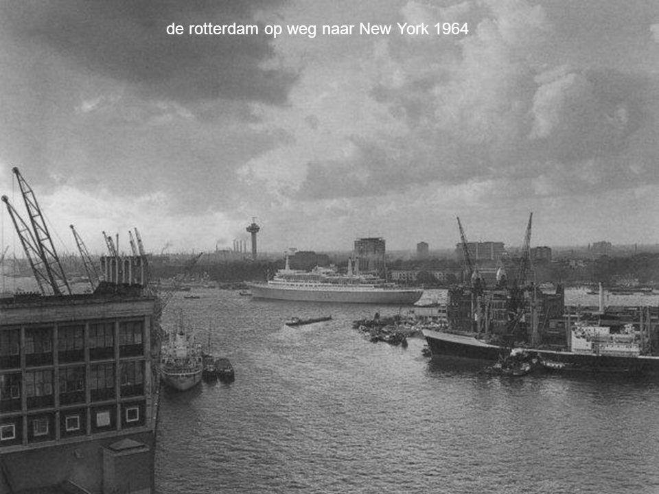 de rotterdam op weg naar New York 1964