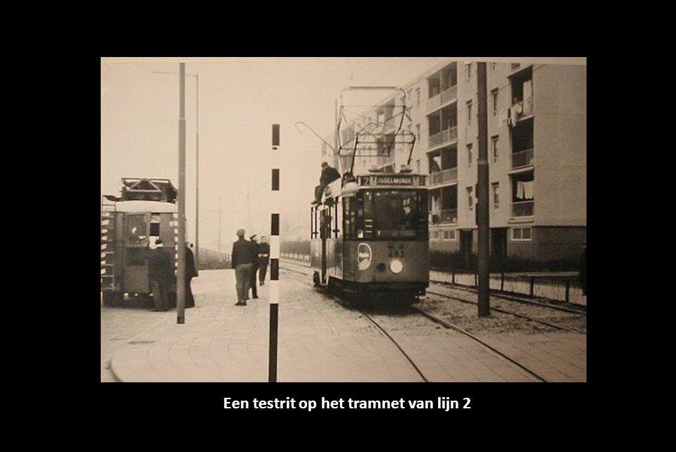 Een testrit op het tramnet van lijn 2