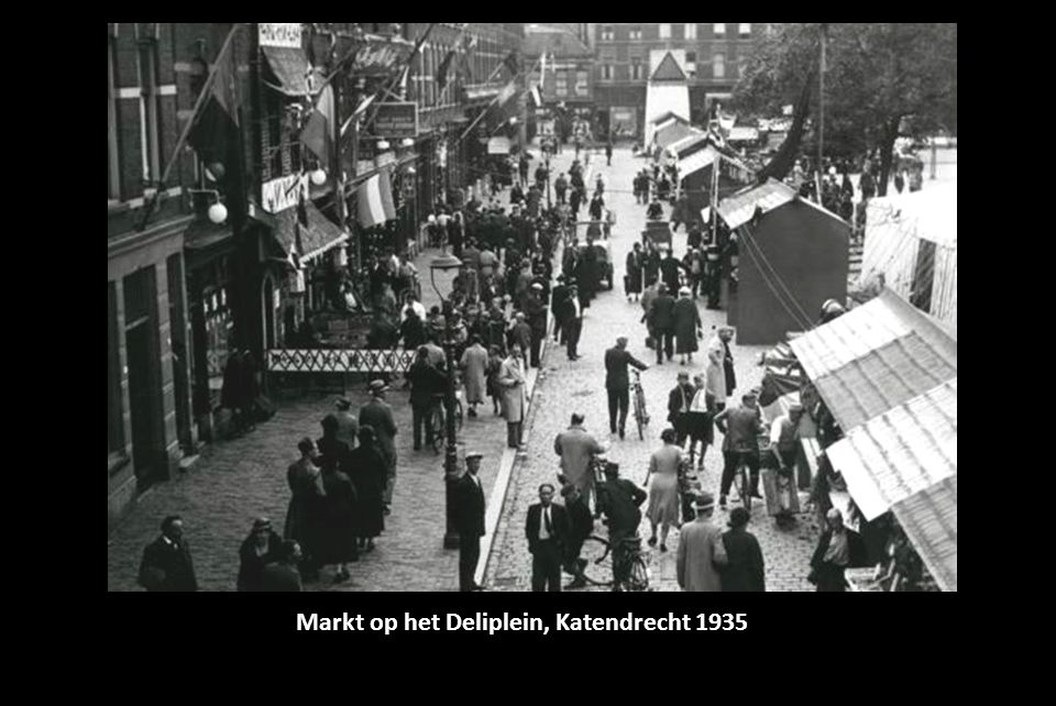Markt op het Deliplein, Katendrecht 1935
