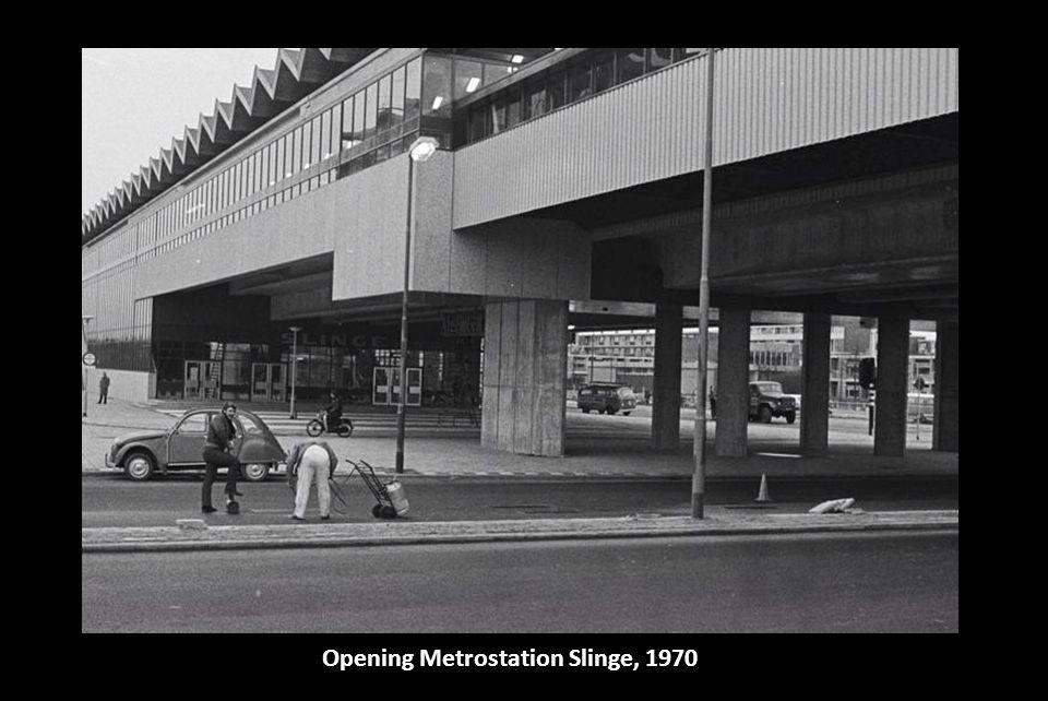 Opening Metrostation Slinge, 1970