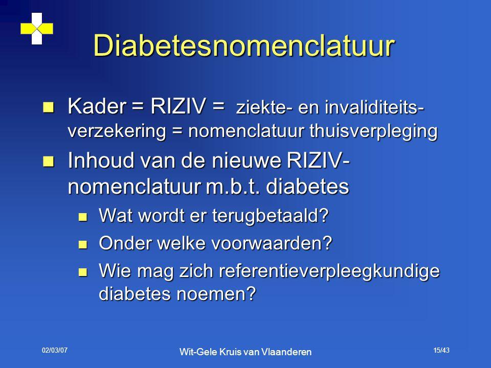 Diabetesnomenclatuur