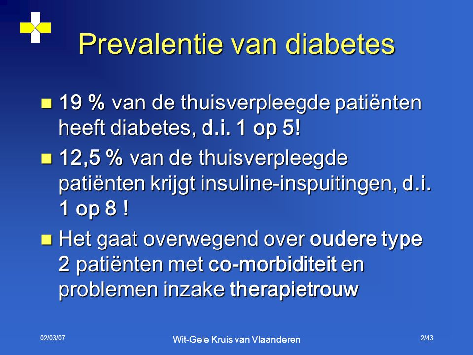 Prevalentie van diabetes